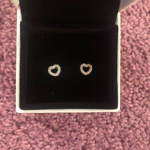 Pandora earrings never worn